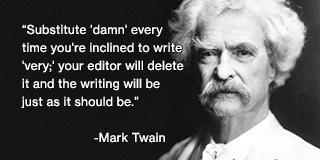 Mark Twain on Adverbs